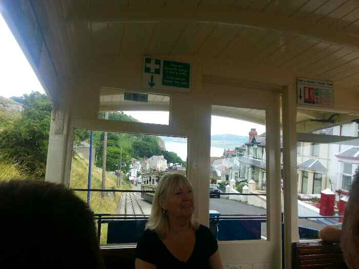 View of a Great Orme tram