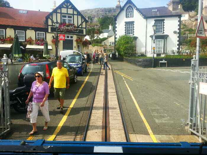 The start of the Great Orme tram