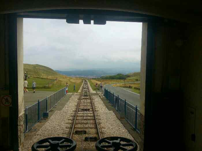 Looking down the Great Orme in the direction of the Half Way Station