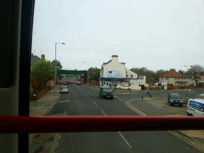 Flamborough Rd passing under the Hull to Scarborough railway line in Bridlington