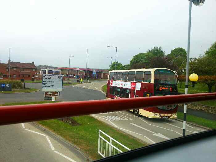 Junction of Marton Rd and Scarborough Rd the A165 Bridlington with 121 eyms bus