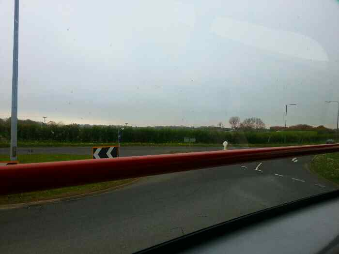 Rejoining the A165 north of Filey