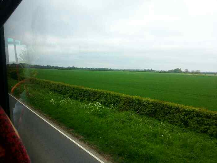 Open countryside as we head out of Leconfield on the A164