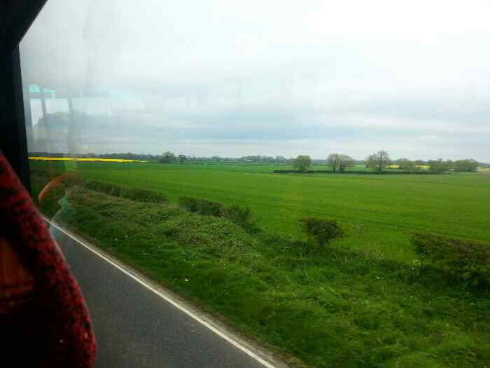 Heading north on the A164 away from Scorborough