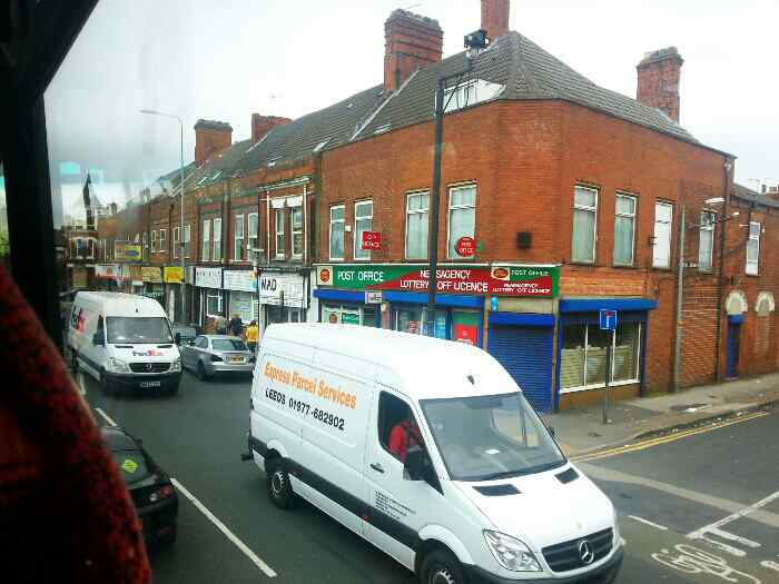 Beverley Road Hull passes the Stepney Post Office and newsagent