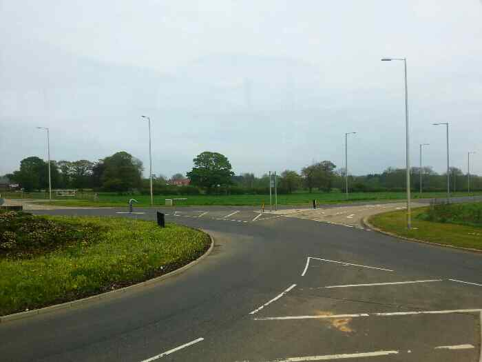 Junction of main St A614 and Bridlington Bay Rd