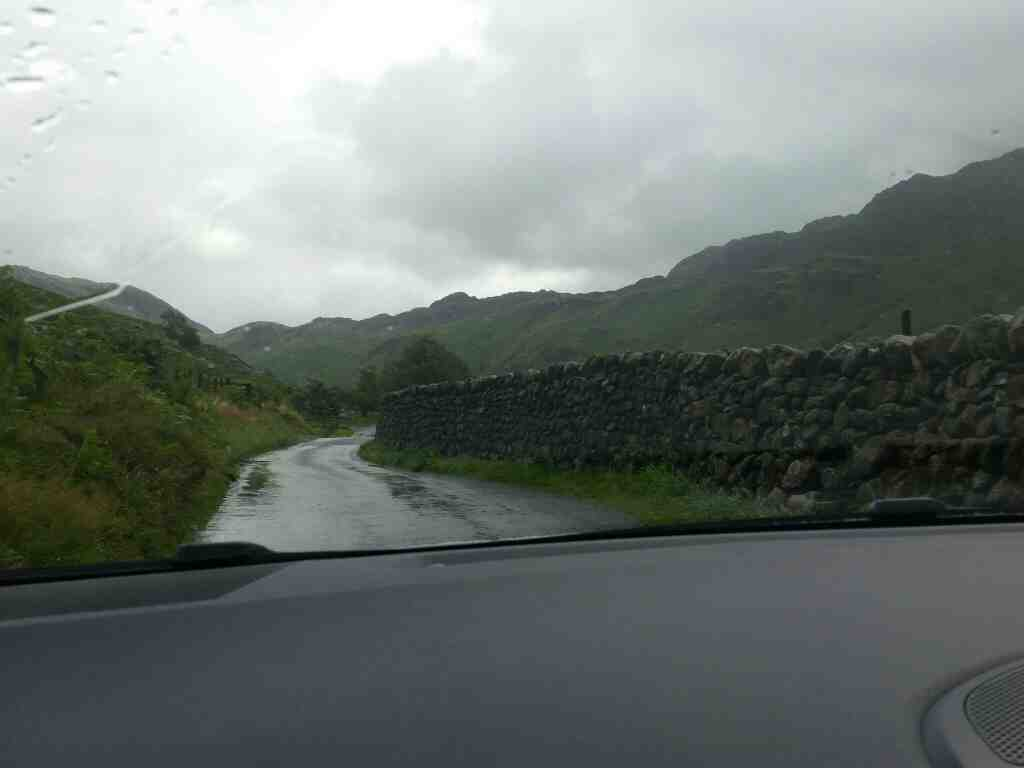 Eskdale approaching the Hardknott Pass and Wrynose Pass Cumbria