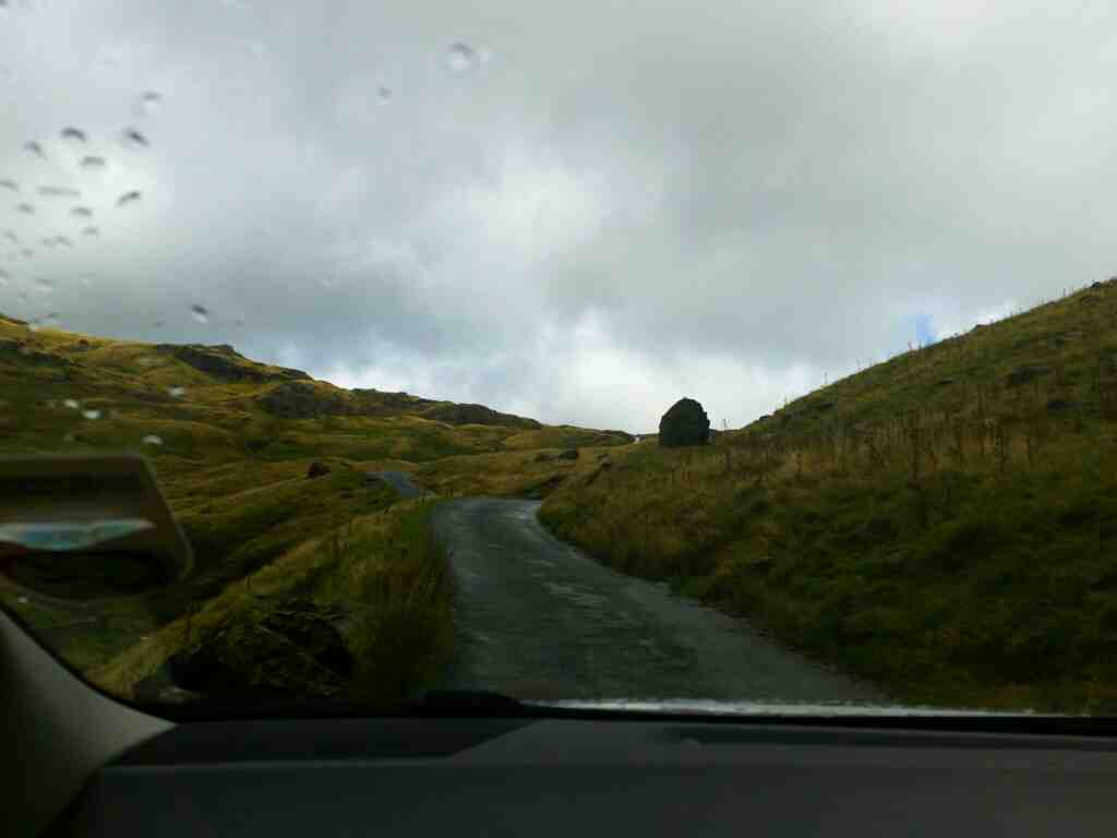 Getting closer to the summit of the Wrynose Pass on a car ride over the Hardknott Pass and Wrynose Pass Cumbria