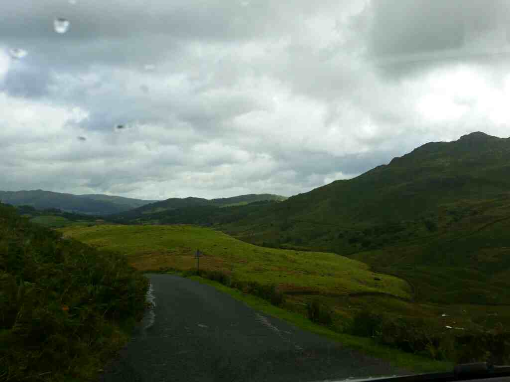 Getting nearer to the foot of the Wrynose Pass on a car ride over the Hardknott Pass and Wrynose Pass Cumbria