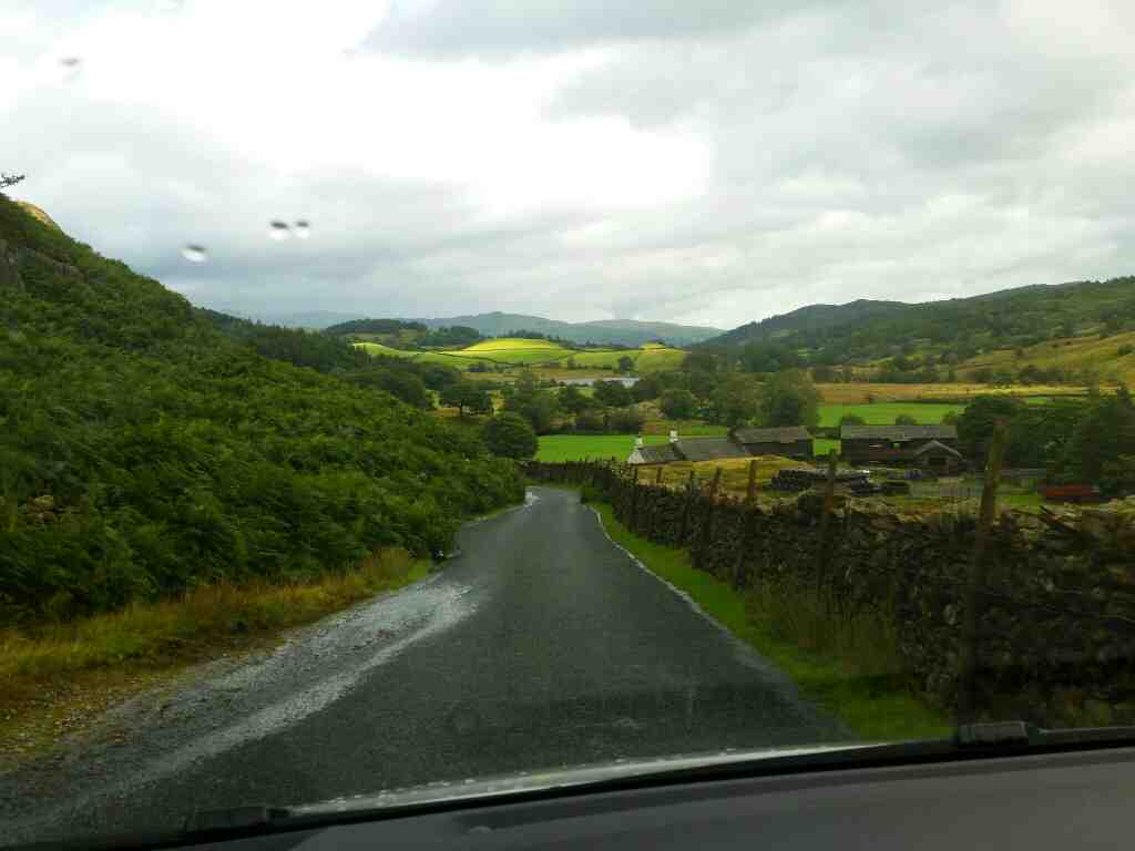 Almost back to normal driving on a car ride over the Hardknott Pass and Wrynose Pass Cumbria