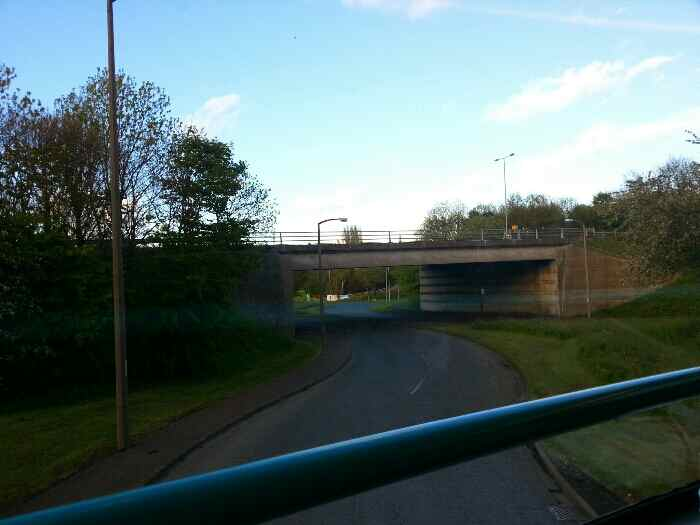 Passing under the A629 Calderdale way on Elland Riorges Link