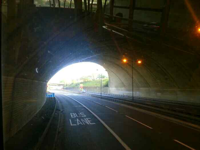 Passing under the M62 between Halifax and Huddersfield