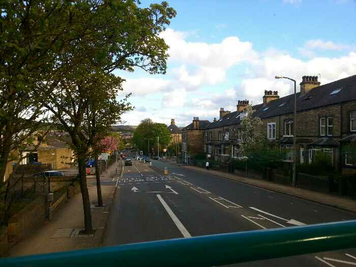 Traveling down Huddersfield Rd.the A629 out of Halifax