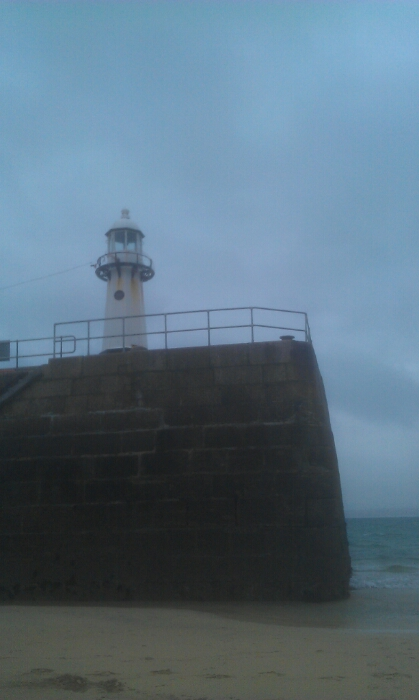 The harbour entrance at St Ives