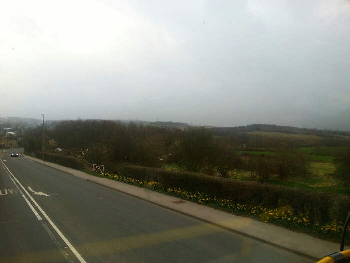 Back on the A62 heading down towards the outskirts of Mirfield
