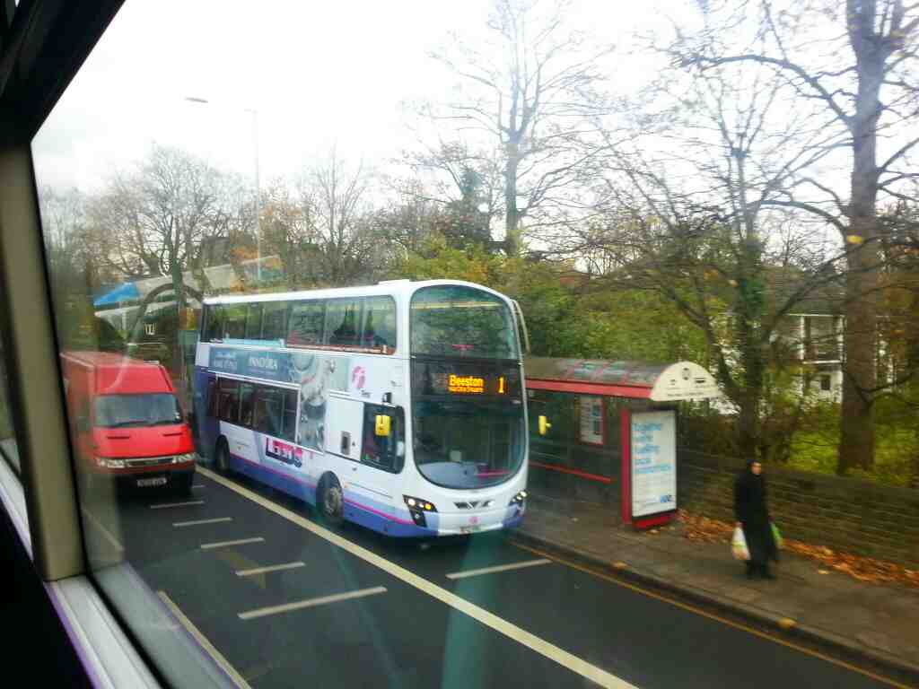 A bus ride from Leeds to Skipton via Otley and Ilkley service X84