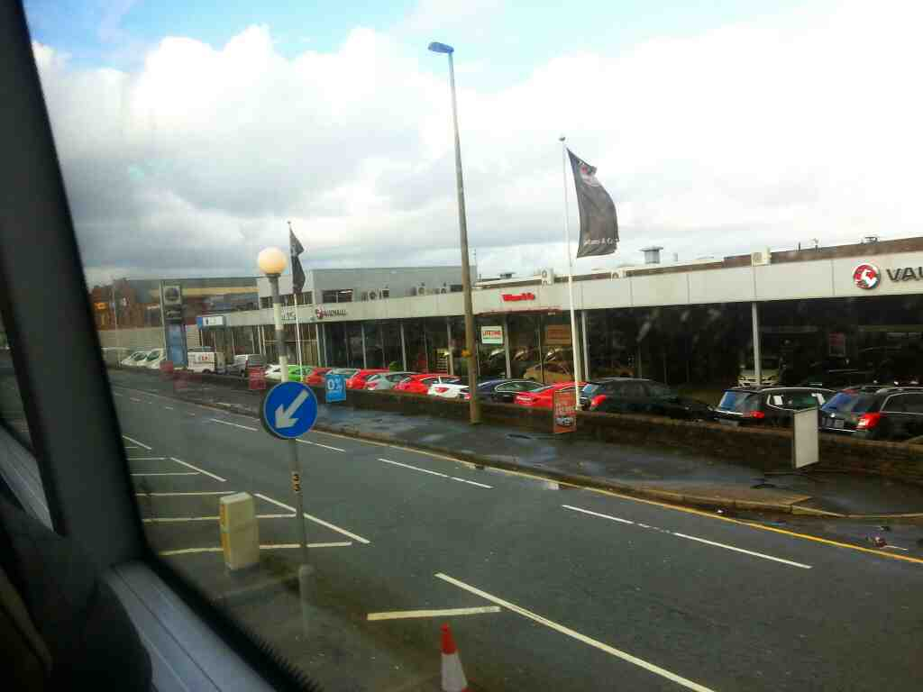 Manchester Rd Bolton off a number 8 bus lots of car sales