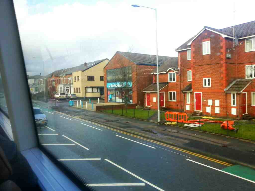Manchester Rd Bolton on a number 8 bus