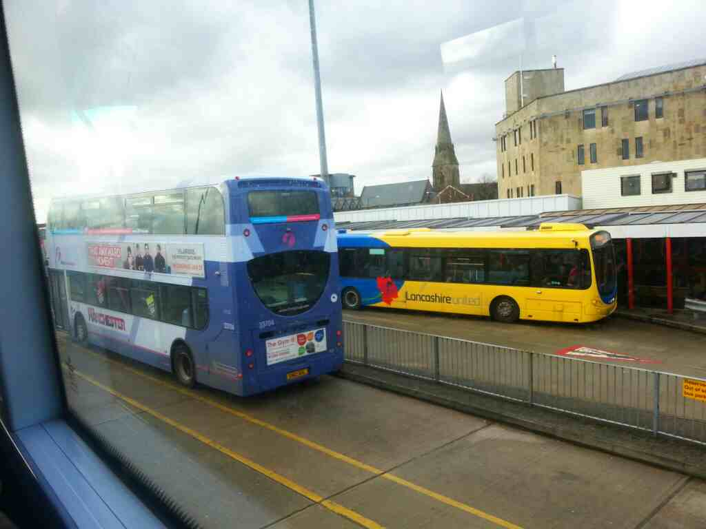 Bolton bus station on a number 8 bus