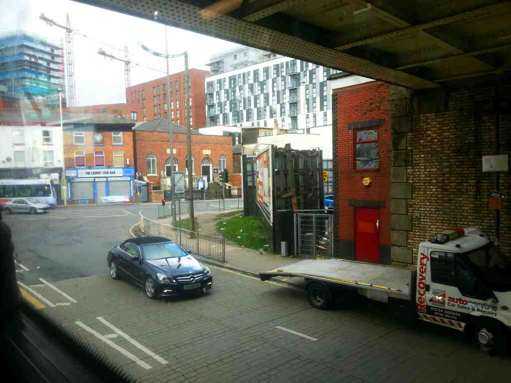 Junction of New Bailey St and Chapel St Salford on a number 8 bus
