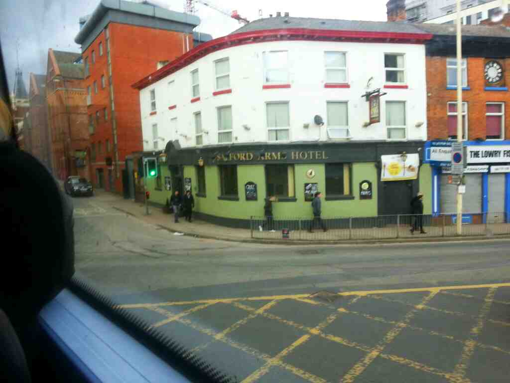 The Salford Arms Hotel Chapel St passed on a number 8 bus
