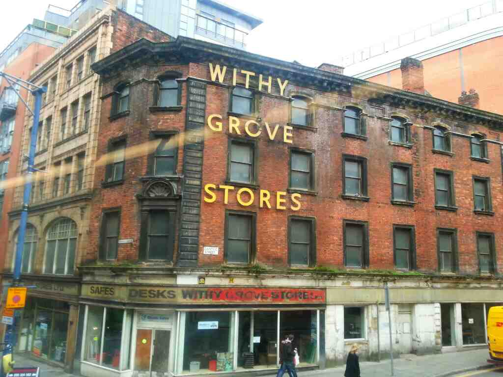 Withy Grove Stores Manchester off a 8 bus