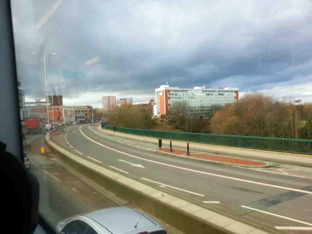 Crescent Salford on a number 8 bus