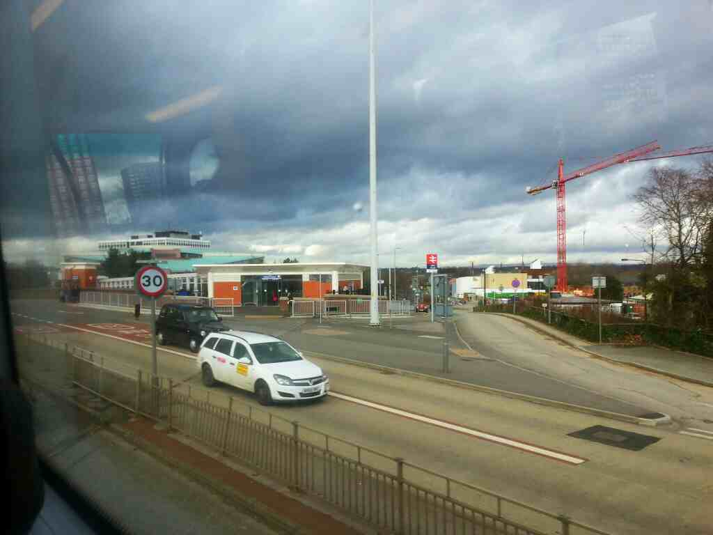 Passes Salford Crescent Station on a number 8 bus