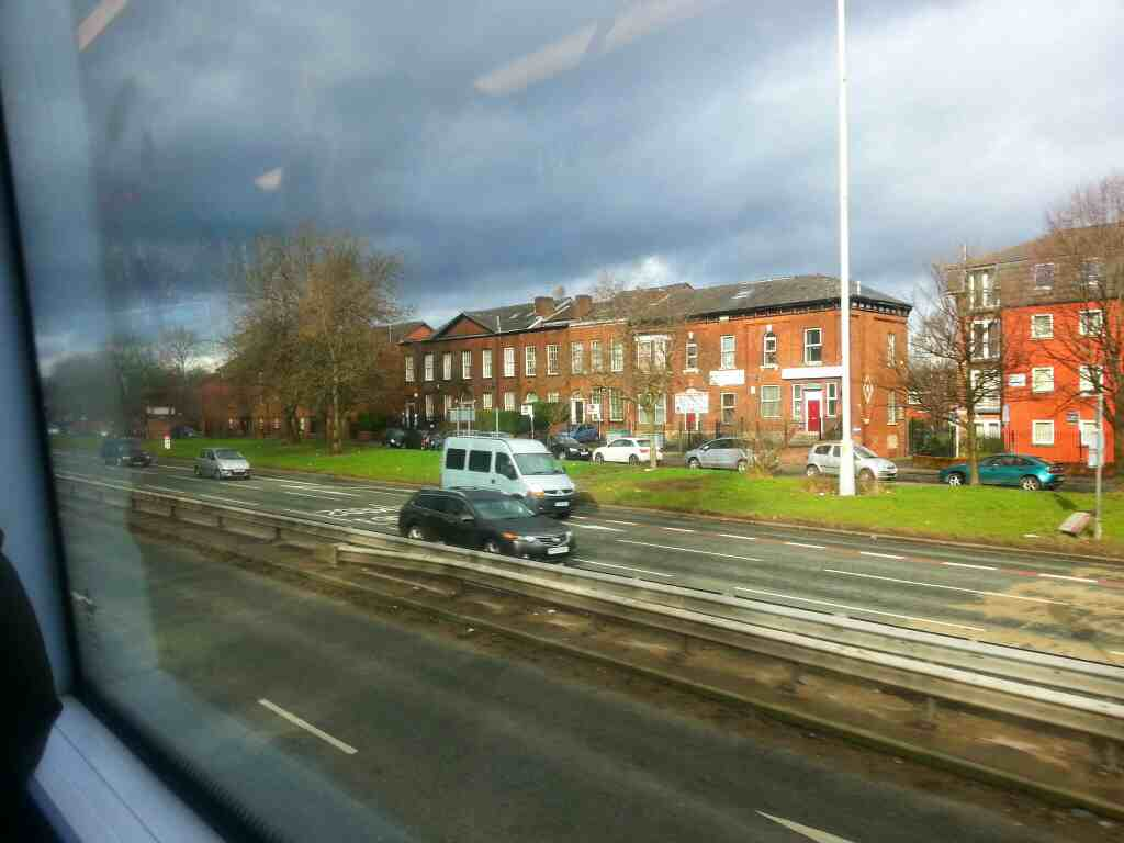 Broad St A6 Salford on a number 8 Bolton bound bus