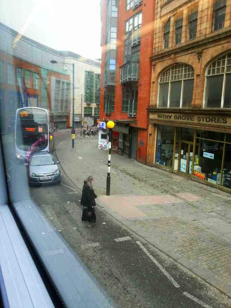 Withy Grove Manchester from a number 8 bus