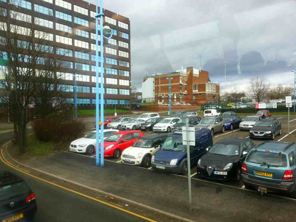 Rossall Way Salford Shopping Centre on a number 8 bus