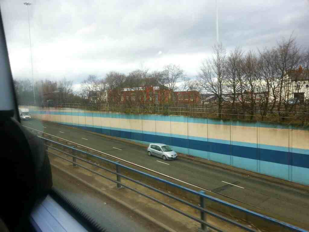 Pendleton Roundabout Underpass A6 Broad St seen from a number 8 bus