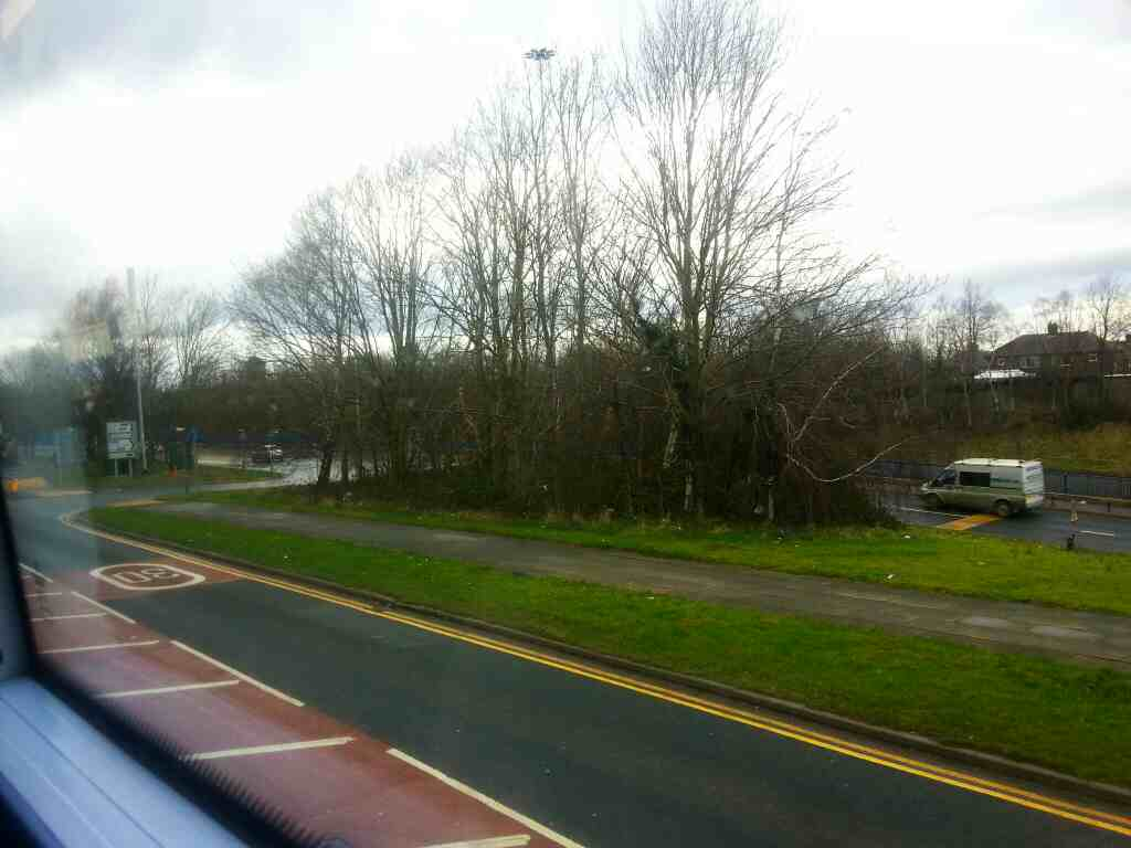 Bolton Rd Salford Greater Manchester on a number 8 bus