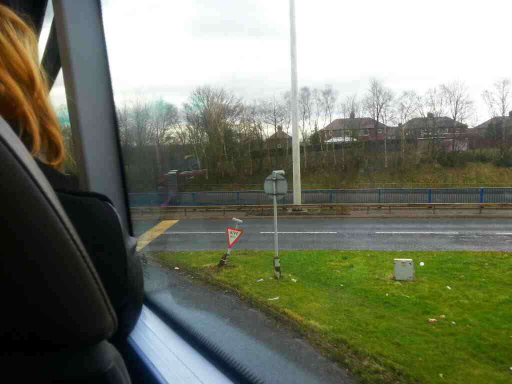 Number 8 bus on the link road between Bolton Rd and the A6 Salford