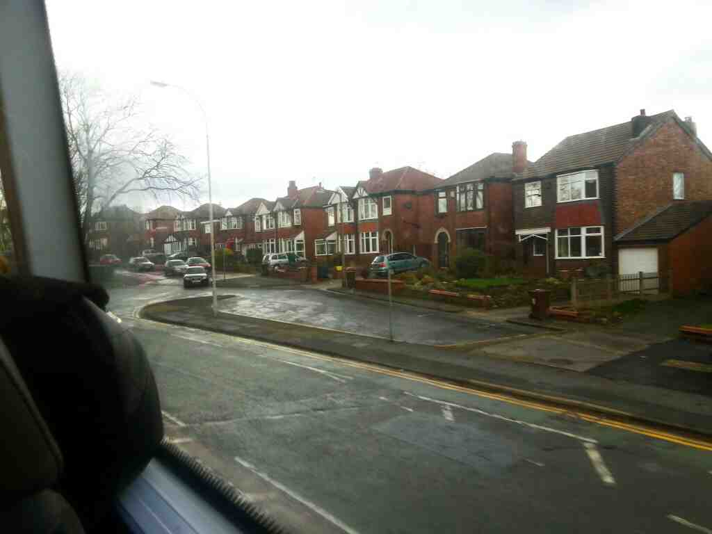 Junction of Bolton Rd the A666 and Rivington Crescent on a number 8 bus