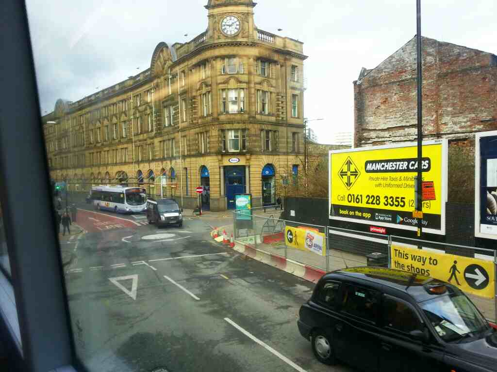 Todd St Manchester off a number 8 bus