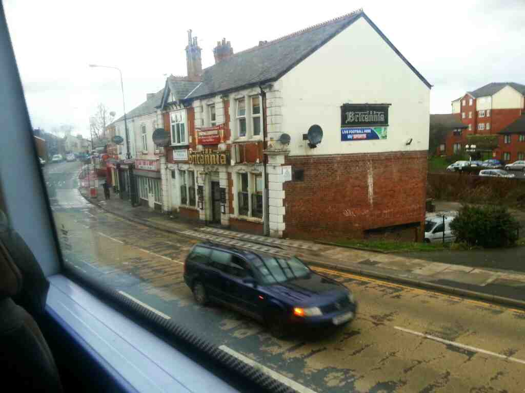 Britannia inn Bolton Rd the A666.Pendlebury passed on a number 8 bus