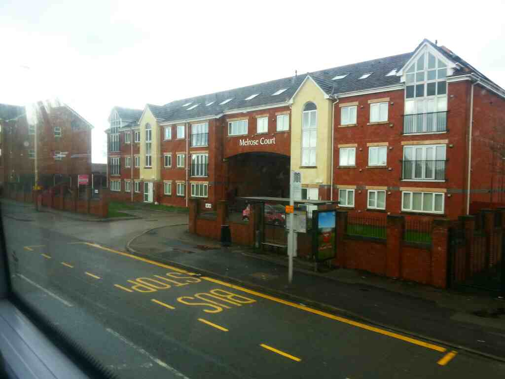Passes Melrose Court Manchester Rd Kearsley on a number 8 bus