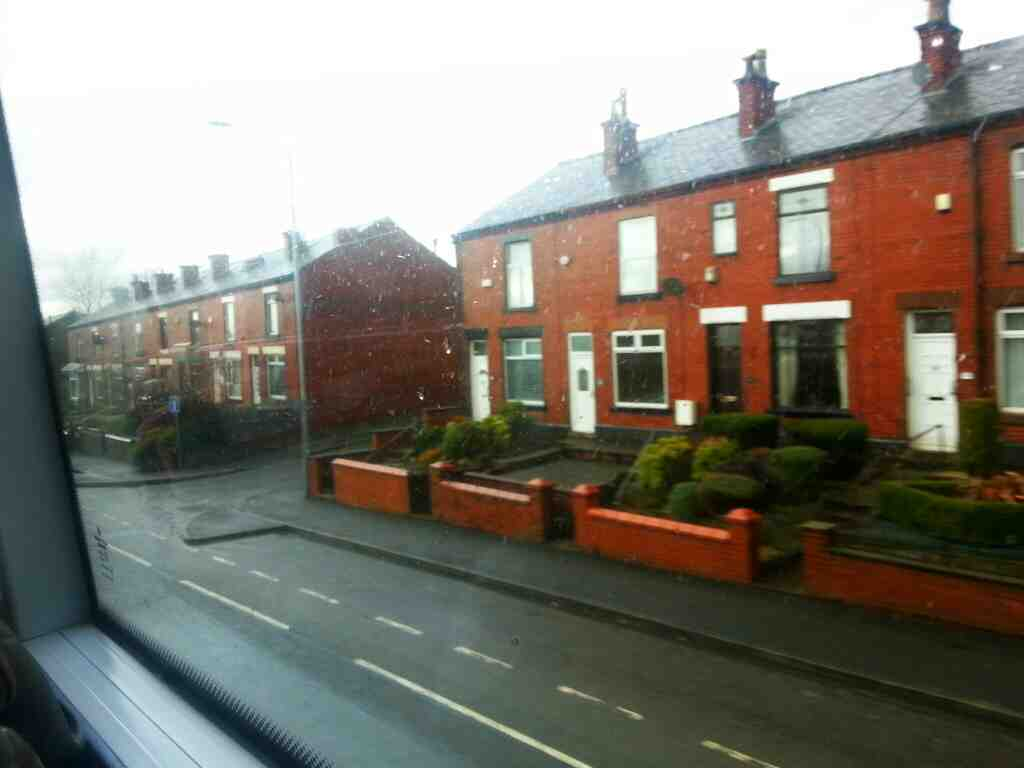 Junction of Victoria Rd and Bolton Rd Kearsley on a number 8 bus