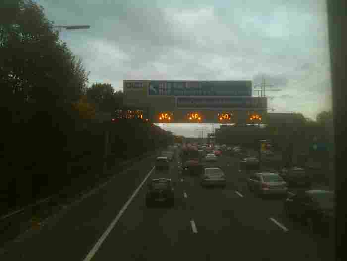 On the M60 Manchester ring road.