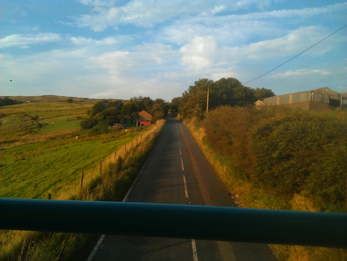 Climbing out of Diggle.