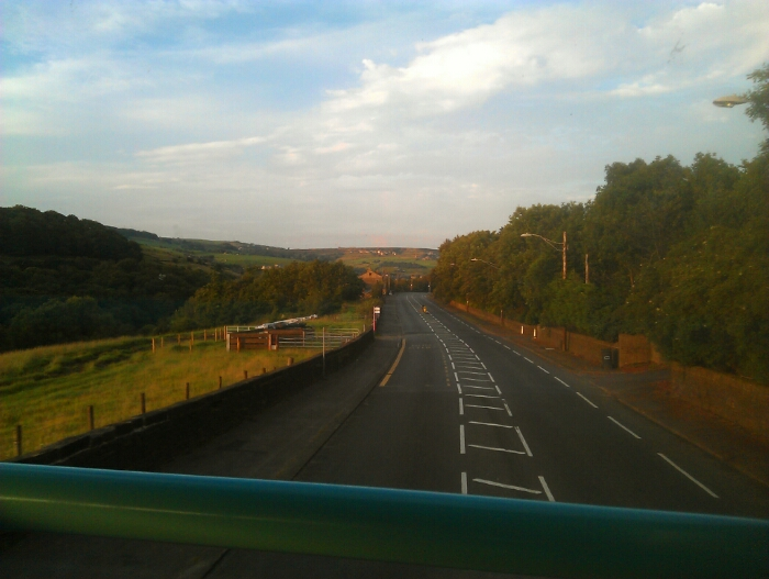 On the A62 between Marsden and Slaithewaite