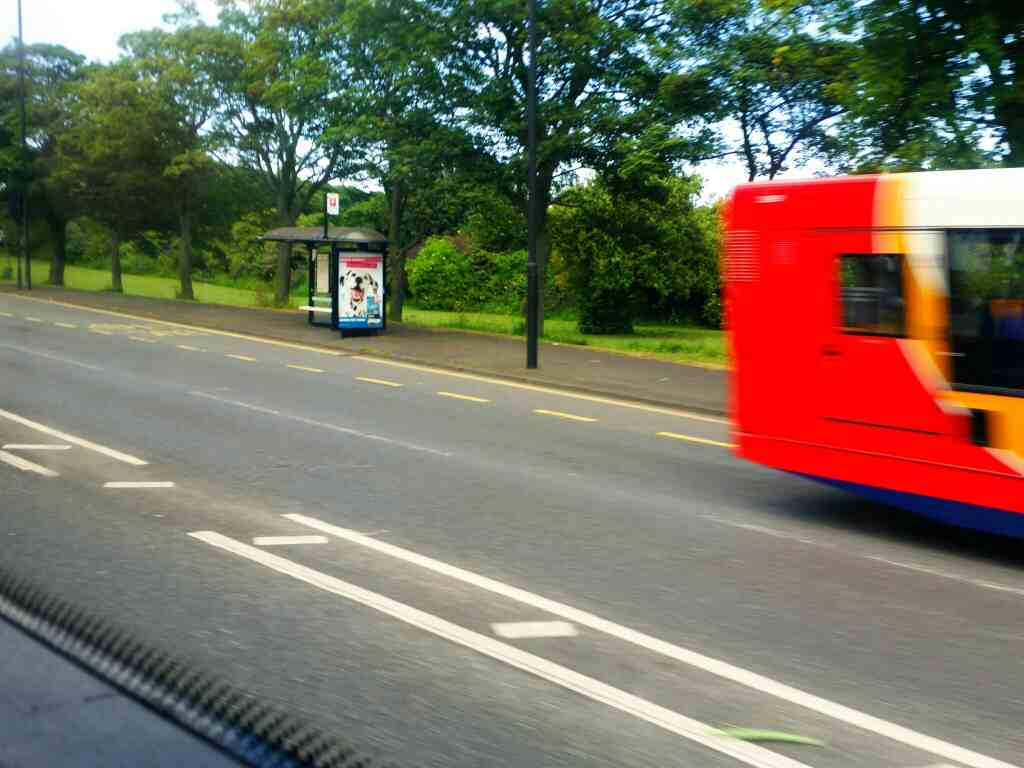 Great North Rd Newcastle Tyne and Wear on a X15 Newcastle to Berwick bus