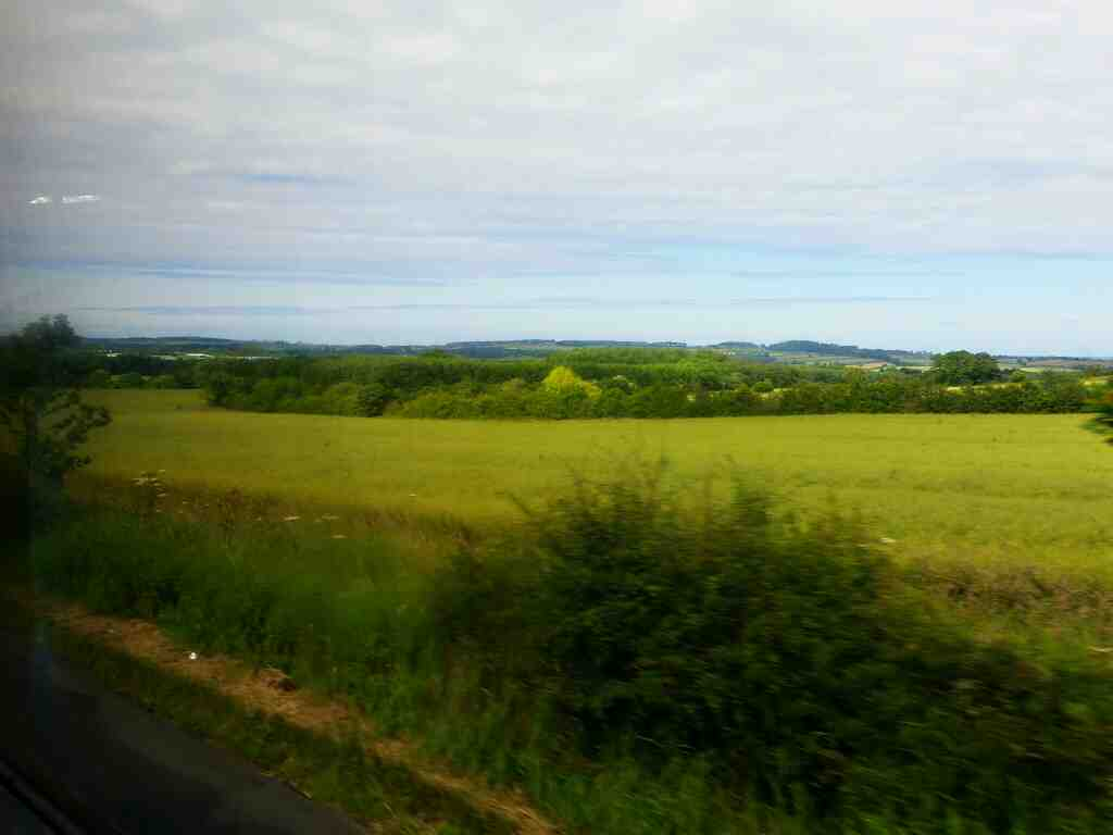 Unamed Road between Shilbottle and Alnwick on a X15 Newcastle to Berwick bus