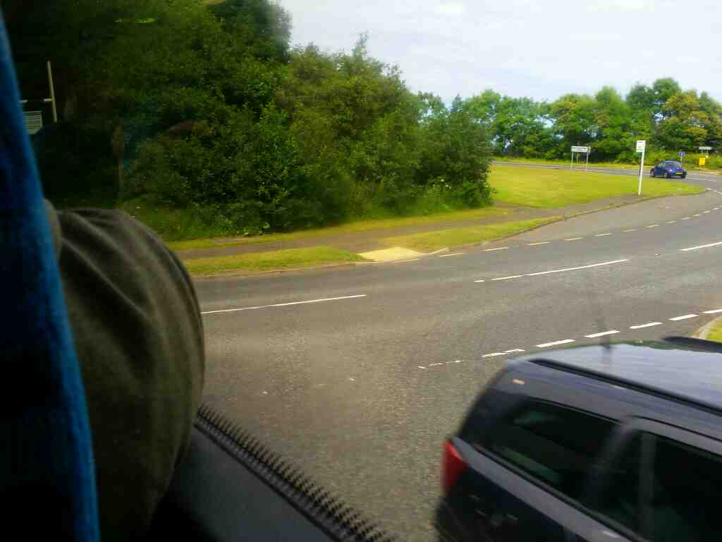 Joining the A1068 Alnwick on a X15 Newcastle to Berwick bus