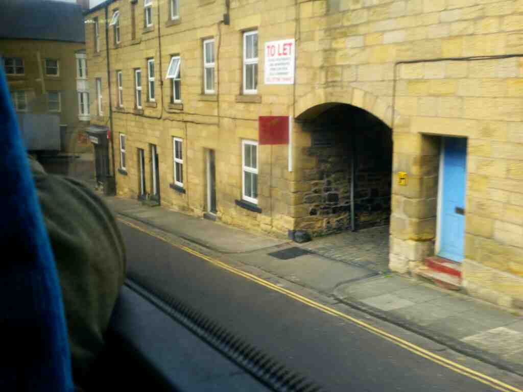 Tower Lane Alnwick Northumberland on a X15 Newcastle to Berwick bus