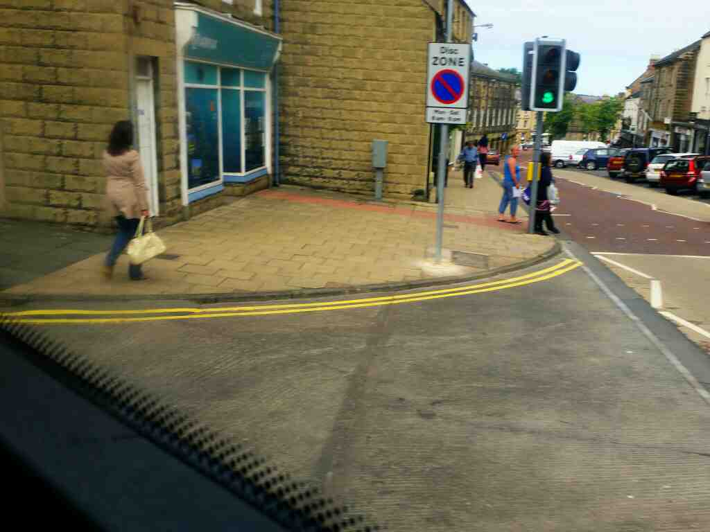 Turning off Clayport Lane into Alnwick bus station on a X15 Newcastle to Berwick bus