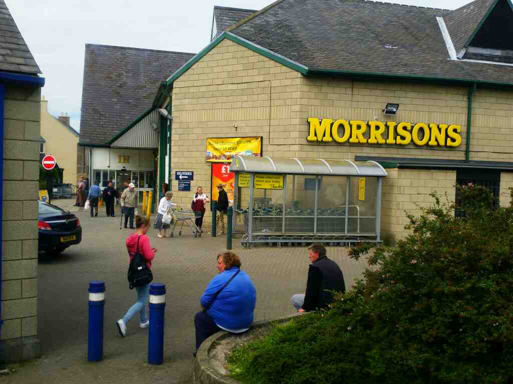 Morrisons Alnwick on a X15 Newcastle to Berwick bus