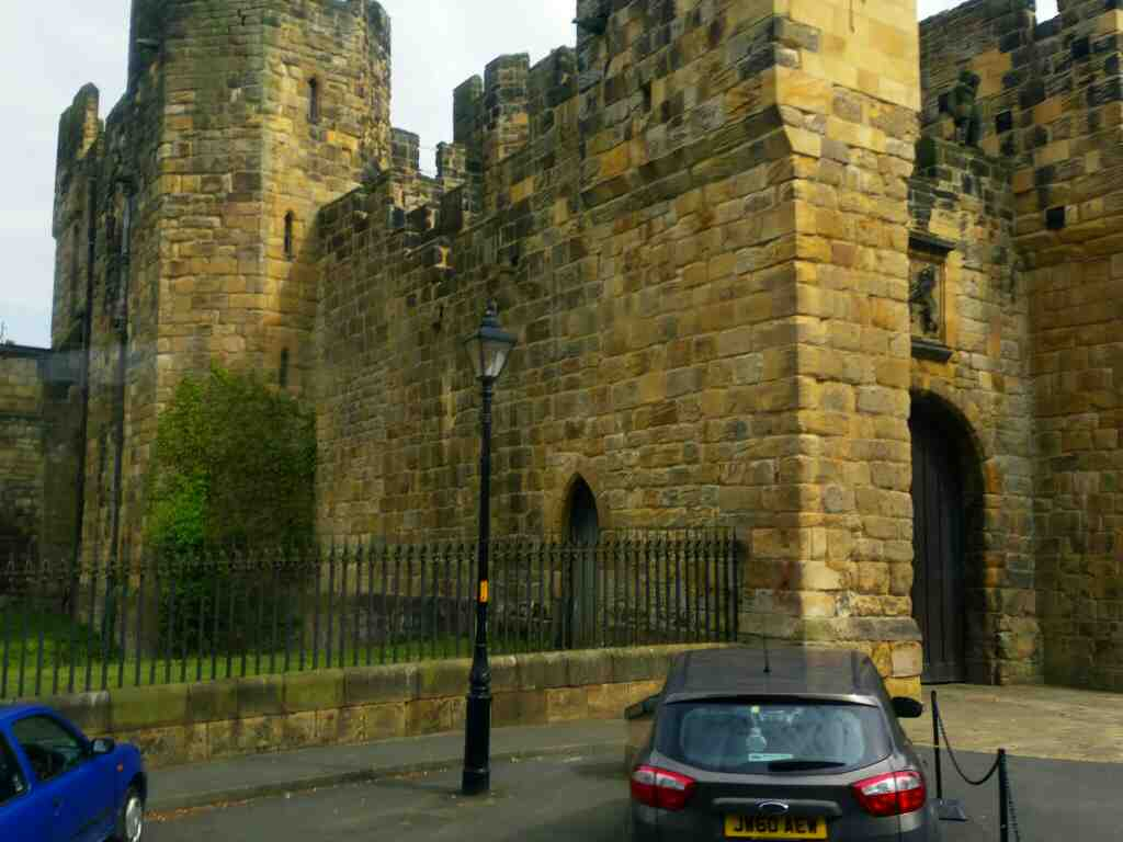 Alnwick Castle Northumberland off a X15 Newcastle to Berwick bus