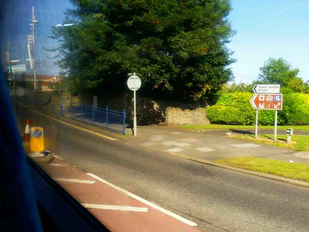Heading onto the south end of Royal Tweed Bridge Berwick on a X15 Newcastle to Berwick bus
